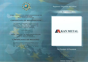 Kan Metal Trade Mark Registration